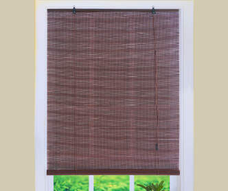 Living colors light bamboo roll up blinds big lots for Exterior no chain window shade