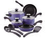 Blueberry Cookware Set 11 Piece on White