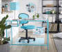 Capri Glass Desk Room Setting Lifestyle Image