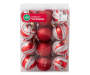 Red and Silver Shatterproof Ornaments 24-Pack In Package Silo