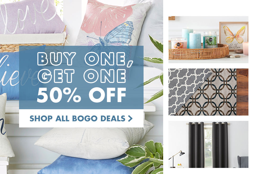 Buy one, get one 50 percent off deals