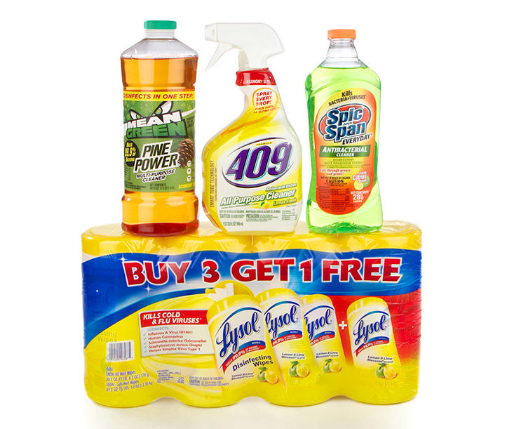 Household cleaners, Lysol, 409 cleaning product