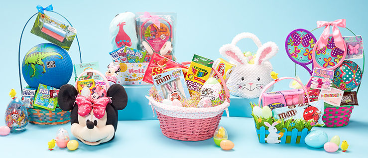 Easter baskets and Easter candy