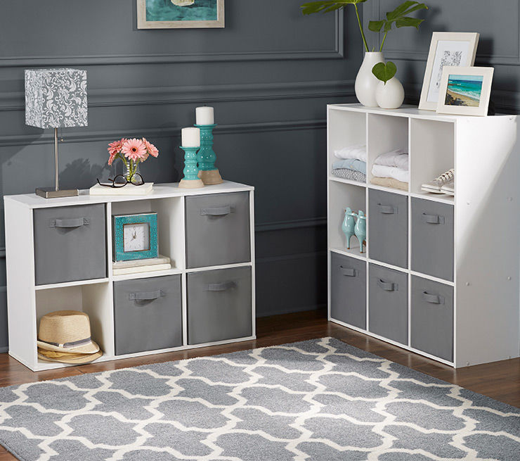 Storage Furniture Cubbies with Fabric Bins
