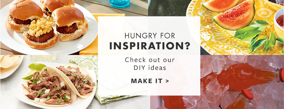 Hungry for inspiration? Check out our DIY's and recipes.