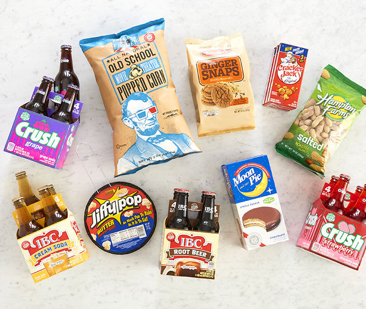 Crush Soda, Moon Pie, Popcorn and More