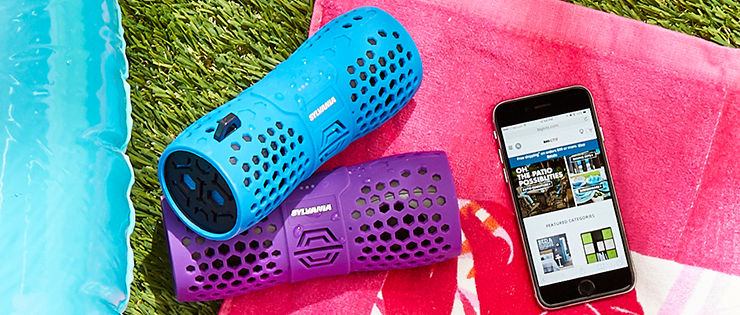 Outdoor bluetooth speakers and headphones