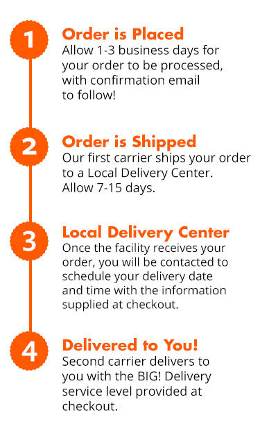 Home delivery process infographic
