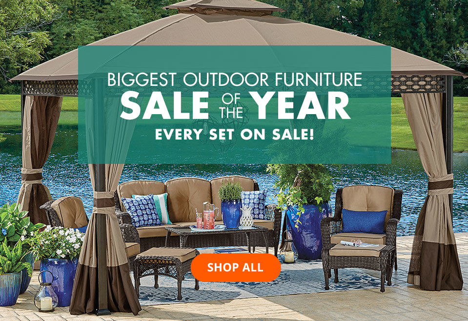 Biggest Outdoor Furniture Sale of the Year. Shop All.