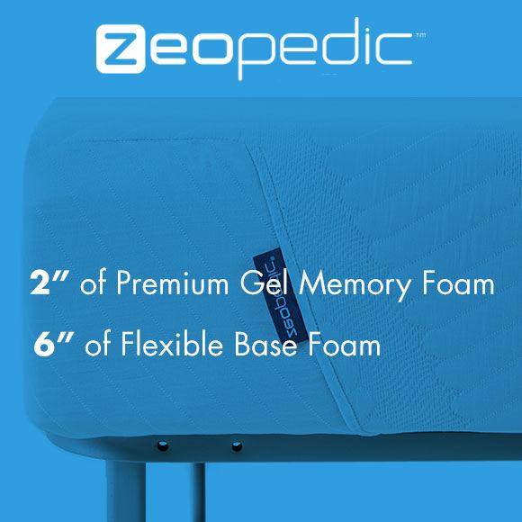Zeopedic 8 inch Deluxe Gel Memory Foam Mattress