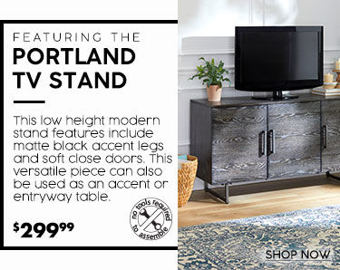 Portland TV stands. Low height modern design. This TV stands can also be used ass and accent or entryway table. 299 dollars and 99 cents
