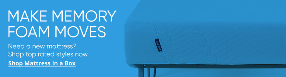 Make Memory Foam moves with our top rated mattress in a box styles