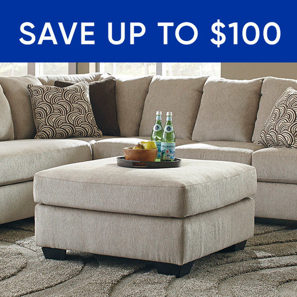 Save up to 100 dollars on sofas and sectionals
