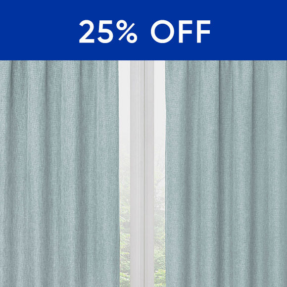 25 Percent Off Select Curtains