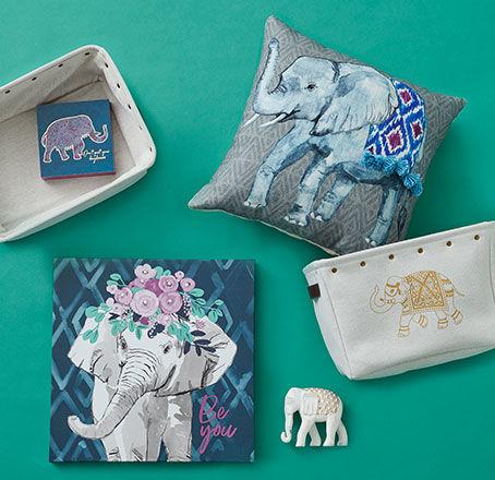 Elephant Decor Collection. Shop Now.