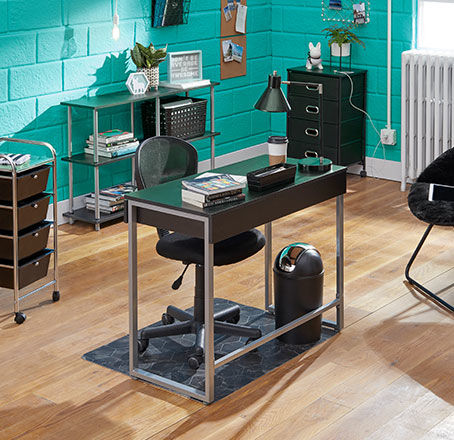 Black and Silver Home Office Collection. Shop Now.