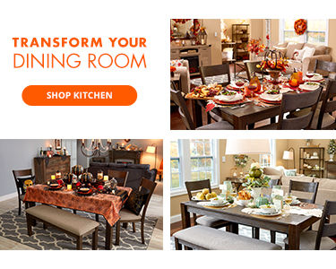 Transform your dining room. Shop kitchen.