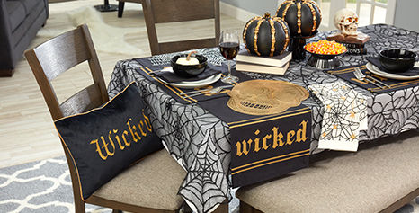 Halloween Decorative Pillows and Kitchen Linens