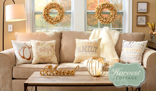 Harvest Cottage Decor and Decorative Pillows