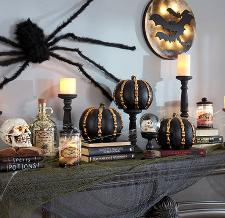 Halloween Decor, Decorative Pillows, Candles