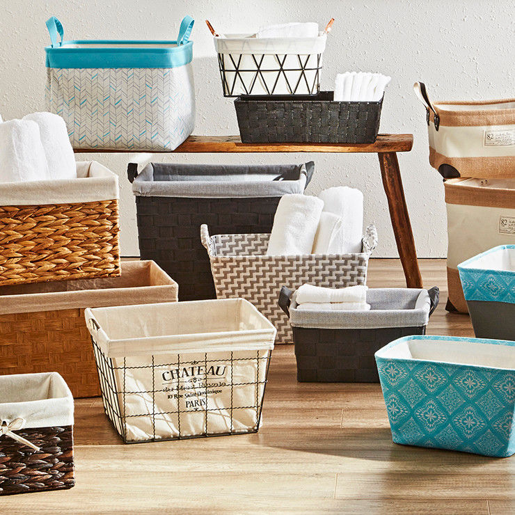 Home storage baskets and bins
