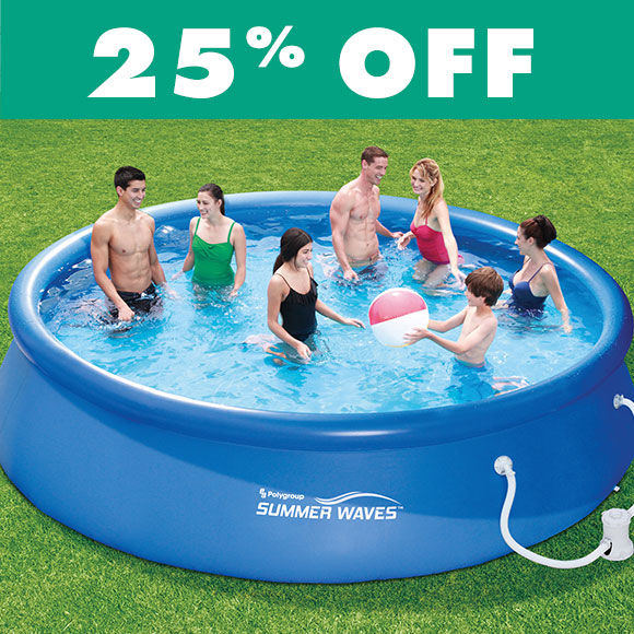 25 Percent Off Pools