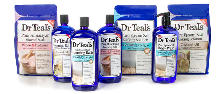 Dr. Teal's soaking solutions, foaming bath and body wash