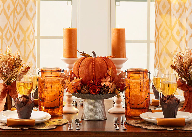 Autumn Radiance Harvest Table Setting
