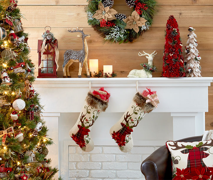 Holiday decor, lanterns and more to design your mantel