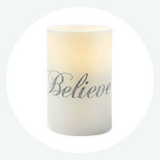 Shimmer collection candles