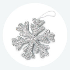 Shimmer collection ornaments