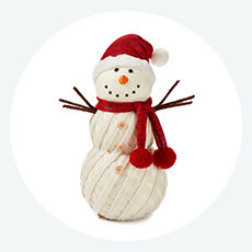 Tidings Snowman Tabletop Decor