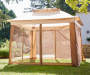 11' x 11' Pop Up Canopy with Netting Closed in Environment