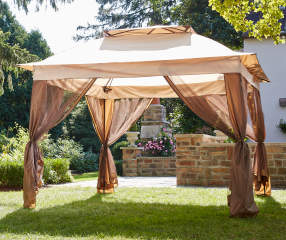 Wilson Amp Fisher Tan Pop Up Canopy With Netting 11 X 11