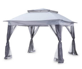 Wilson Amp Fisher Gray Pop Up Canopy With Netting 11 X 11