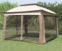 11 feet x 11 feet Pop Up Canopy with Netting closed