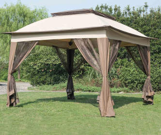 Camo pop up sun shelter with netting 10 39 x 10 39 big lots - Small gazebo with netting ...