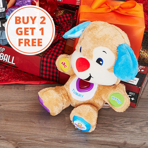Buy 2, Get 1 Free on Select Toys