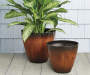 "12"" Brown Cassini Drip Plastic Planter"