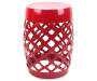 12 Inch Red Lattice Garden Drum Front View Silo Image
