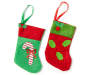 12 PK CANE & HOLLY MINI STOCKING