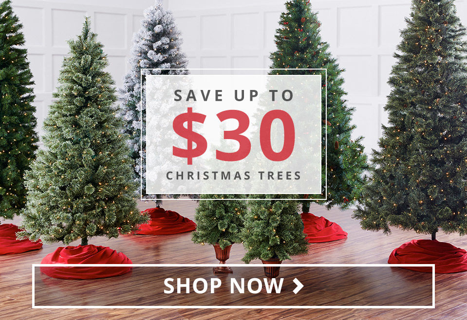 Save Up To 30 dollars on Christmas Trees