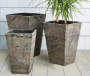 12in Slate Finish Square Fiberglass Planter environment Image