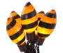 14 Foot Spiral Lights 25 Count with 5 Orange Bulbs with Black Spiral Stripe Showing Silo Image