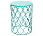 16 Inch Turquoise Garden Table Front View Silo Image