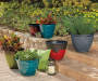 16in Red Zeus Dura Glaze Planter lifestyle
