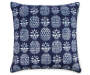 17 IN NAVY PINEAPPLE GROVE TOSS PILLOW