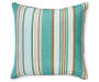 17 IN TURQ BALDWIN STRIPE TOSS PILLOW