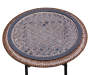 18 Inch Round Glass Top Resin Wicker Folding Table Top View