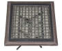 18in Square All Weather Wicker Folding Table silo top view